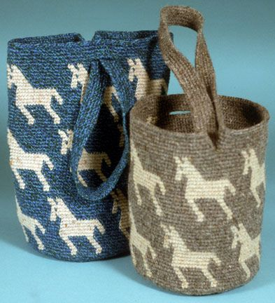 Tapestry Crochet Cylindrical Shoulder Bags by tapestrycrochet, via Flickr