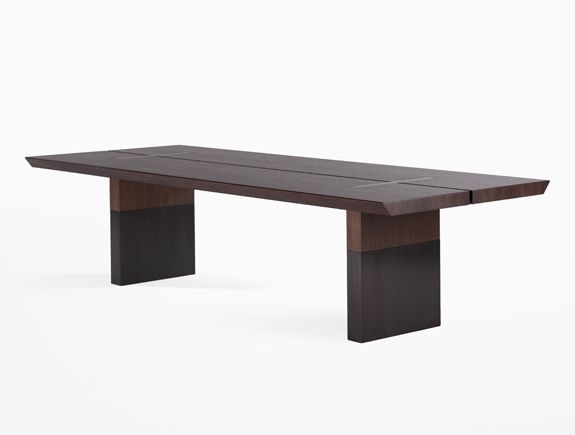 Holly Hunt Split Dining Table 120 Wide 46 Deep 29 75 High