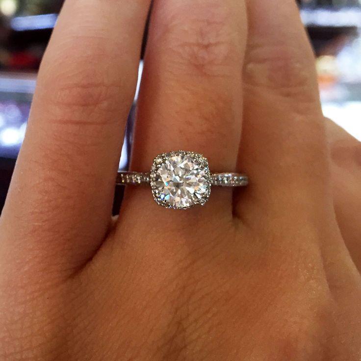 engagement rings 2017 tacori dantela 18k white gold 24ctw diamond ring - Pretty Wedding Rings
