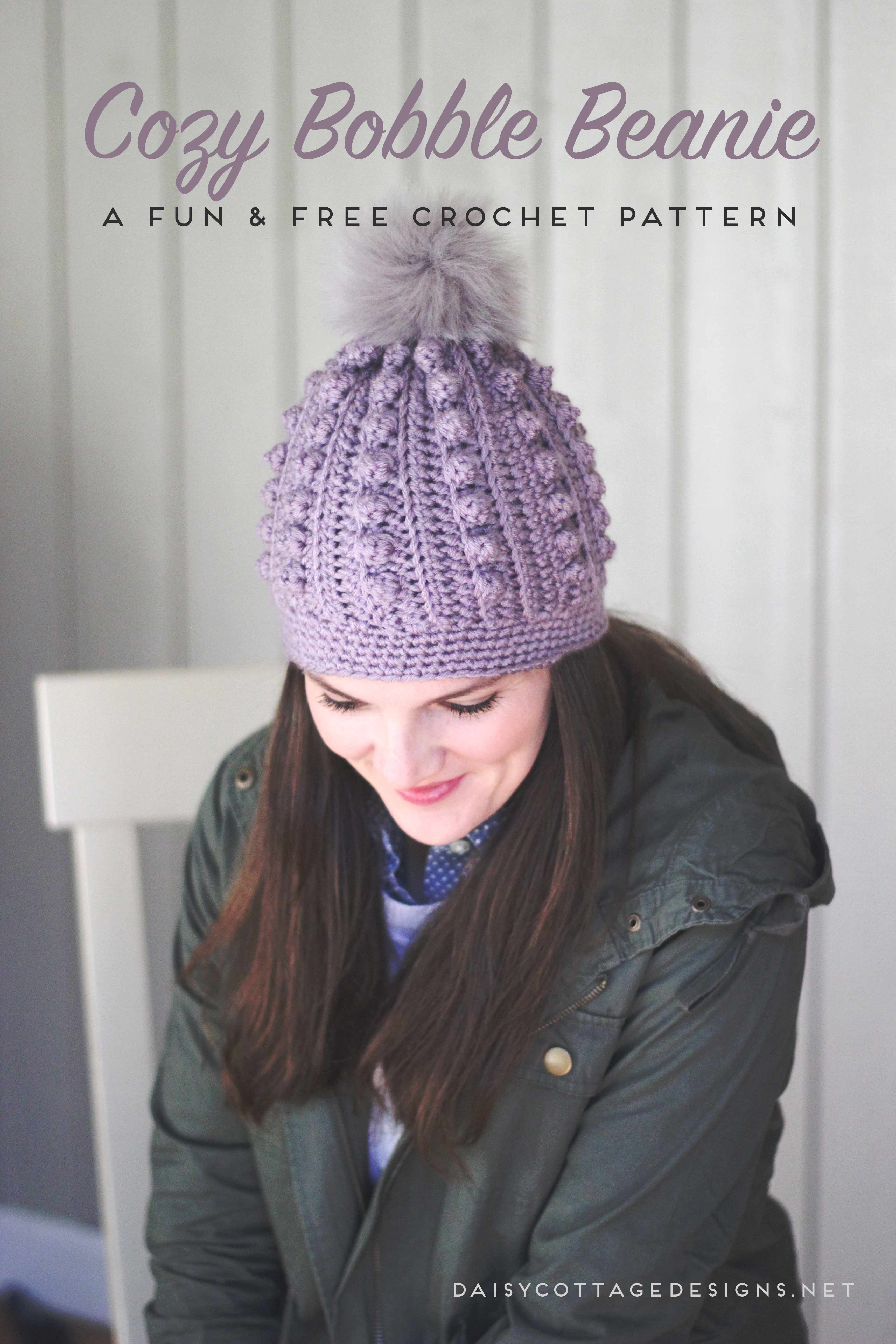 Bobble Beanie Crochet Pattern | Cottage design, Hat crochet and Free ...