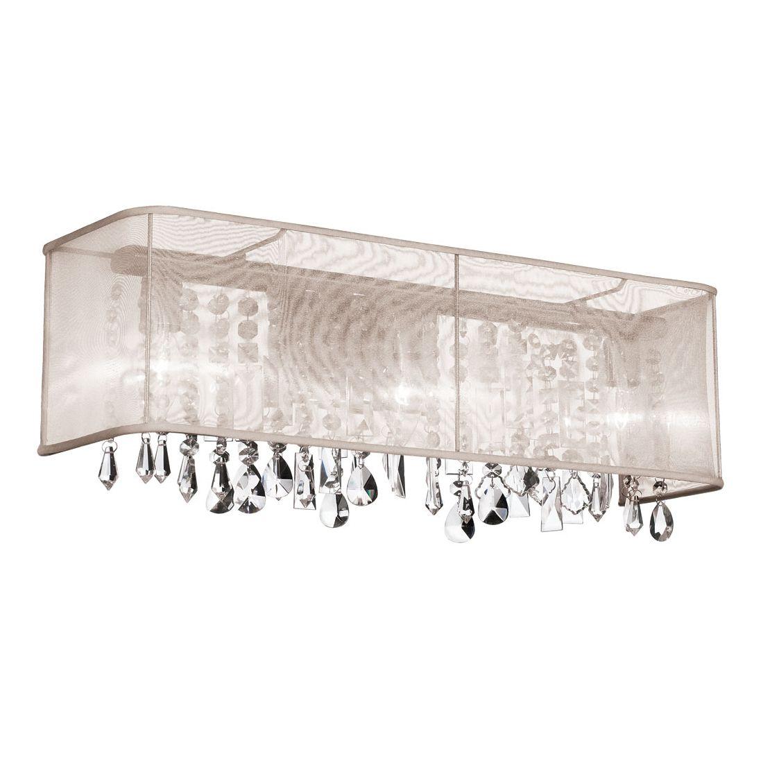 Lowe's Canada Bathroom Vanity Lighting dainolite 85324w 4 light crystal vanity sconce with rectangle
