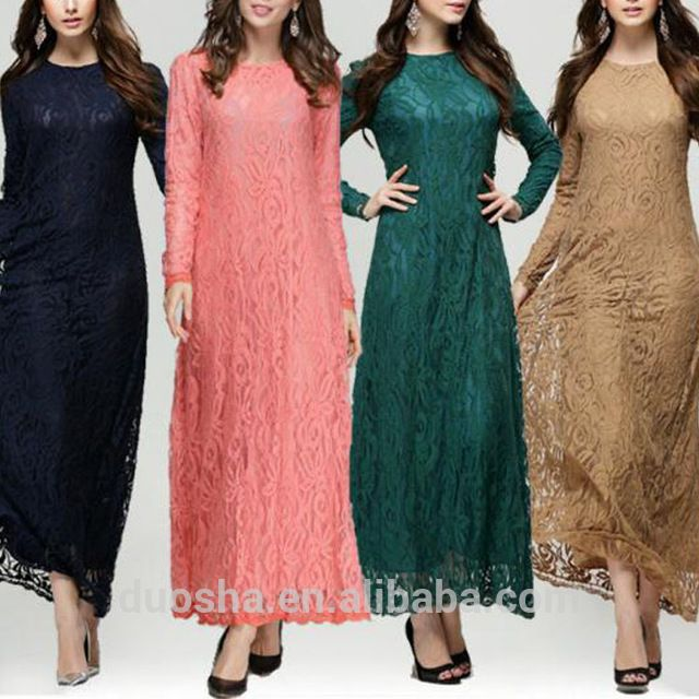 Source Pictures of Lace Baju Kurung Fashion Design Muslim Dress for ...