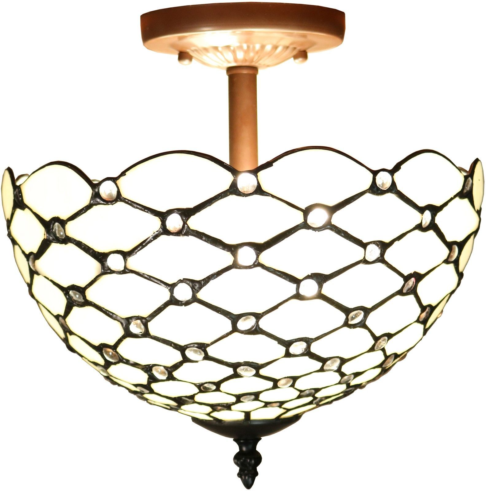 Dining Room Light Fixture Tiffany Style Stained Glass Ceiling Chandelier Mission in Home & Garden, Lamps, Lighting & Ceiling Fans, Chandeliers & Ceiling Fixtures | eBay