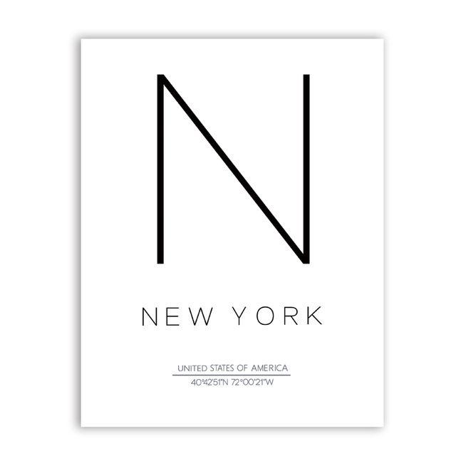 New York Paris Et Londres Ville Coordonnees Affiche Toile Art Imprimer Noir Et Blanc Ville Impression Scandinave Affiche Art Decor Toile Affiche Noir Et Blanc