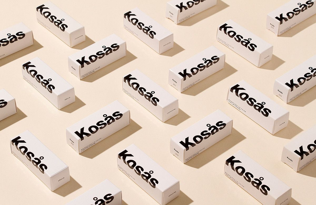Brand identity and packaging for a cosmetics brand Kosås designed by los angeles based design studio Heavy Atelier. Via www.heavyatelier.com