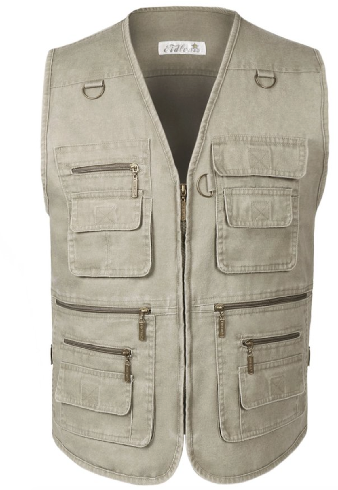 550a00ba56 Denim - Zipper closure - Vest Style: Loose Fit. - Suitable for hiking,  climbing, fishing, photography and other leisure outdoor sports - 12 outer  pockets ...