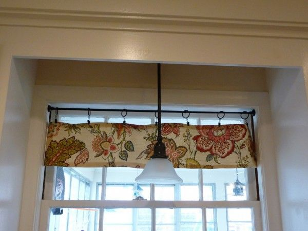 Enthralling Tension Curtain Rod With Waverly Floral Valances On