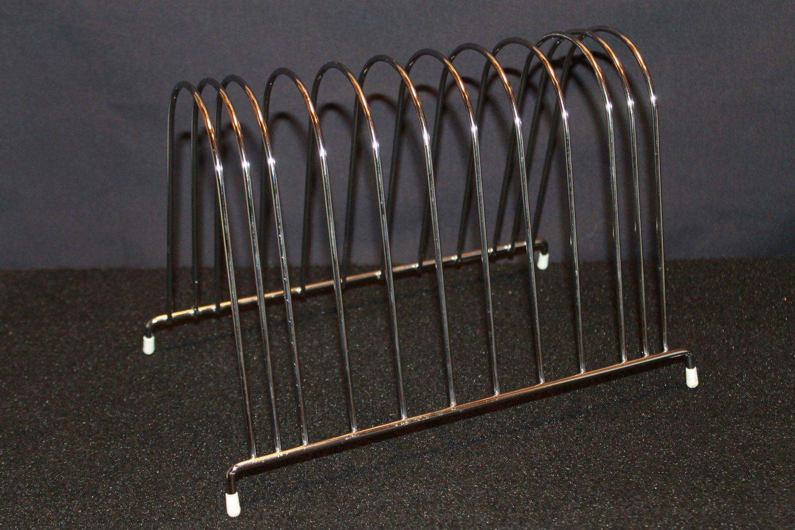 Vintage LP Metal Wire Storage Rack Stand Holder Display 1960s, Holds 40 Vinyl Records, $17.00