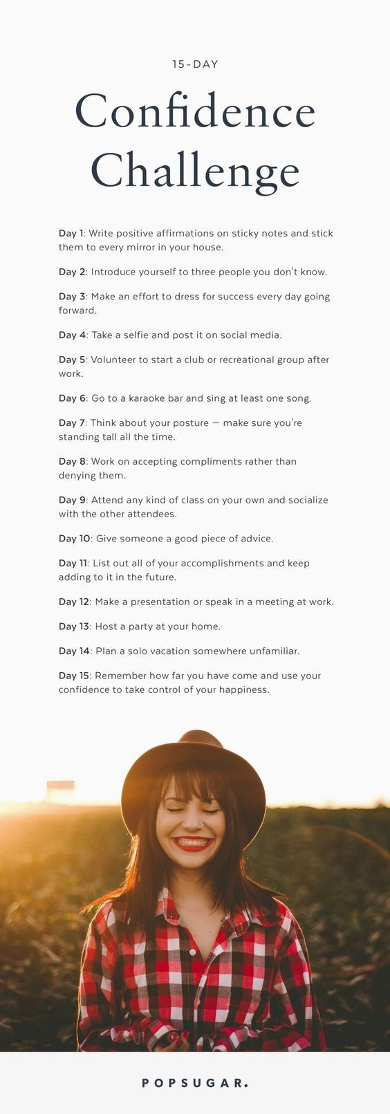 The 15 Day Confidence Challenge Believe In Yourself More Than Ever Challenge Accepted Self Care Self Self Improvement
