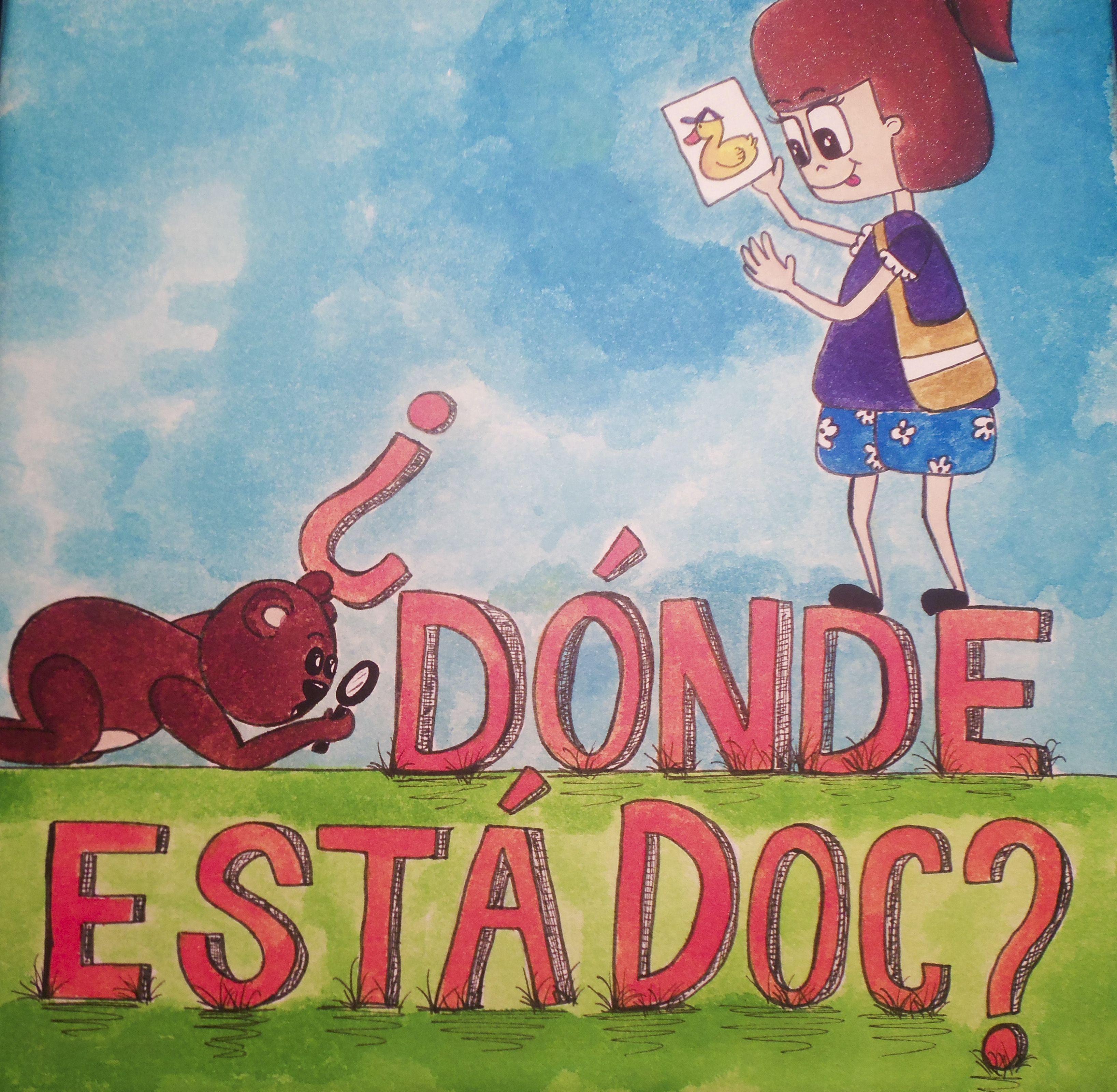 Portada de libro ilustrado ¿Dónde está Doc?