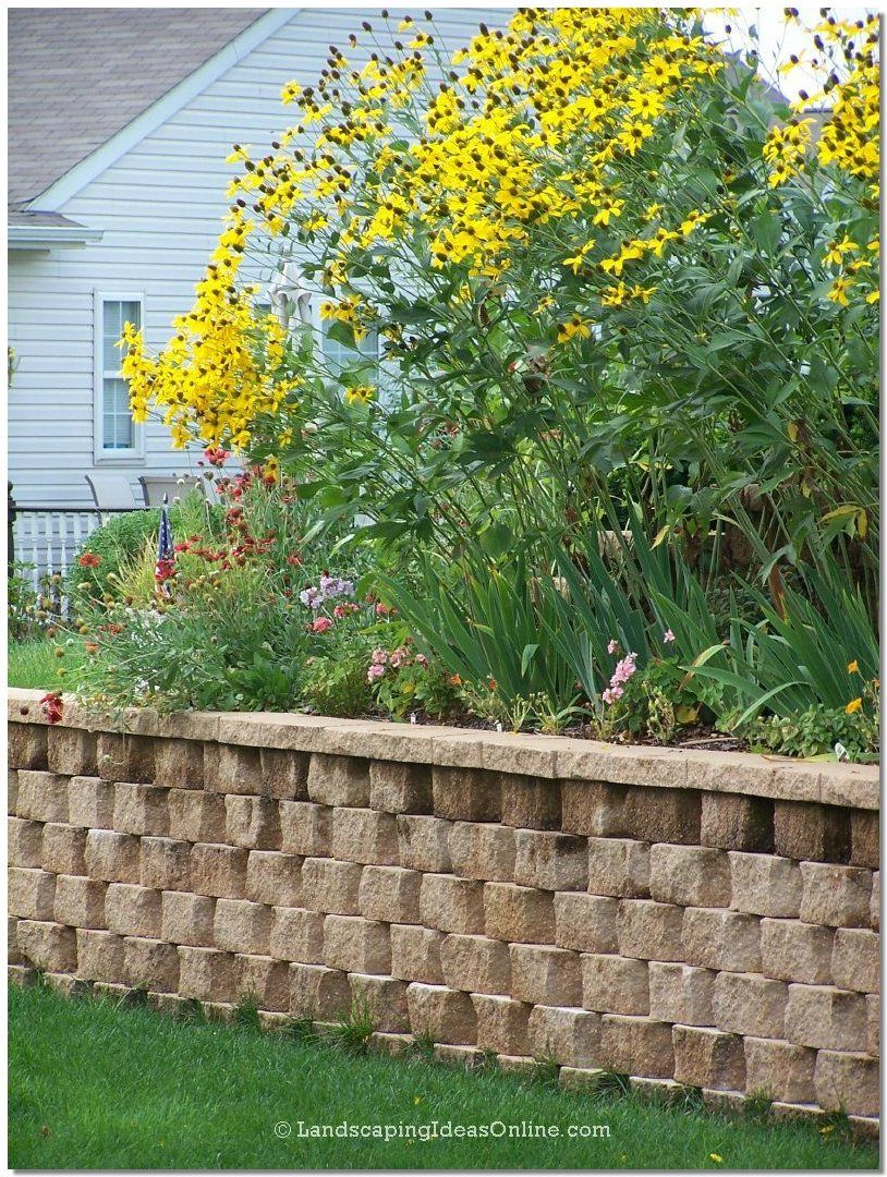 retaining wall for behind garage