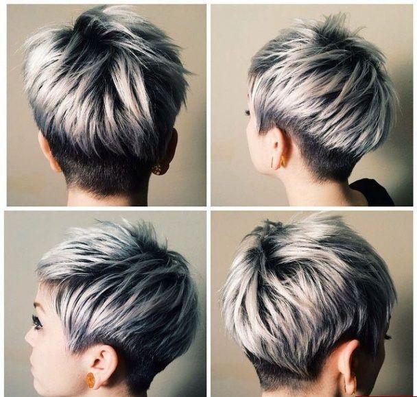 Grijs Voor Grijze Muisjes Deze Foto S Laten Jou Het Tegendeel Zien Kapsels Voor Haar Kurzhaarfrisuren Pixie Frisur Haarschnitt Kurz