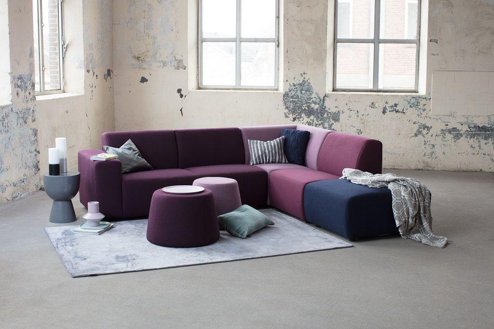 Paarse Decoratie Woonkamer : Montèl bronco hoekbank paarse hoekbank multicolor
