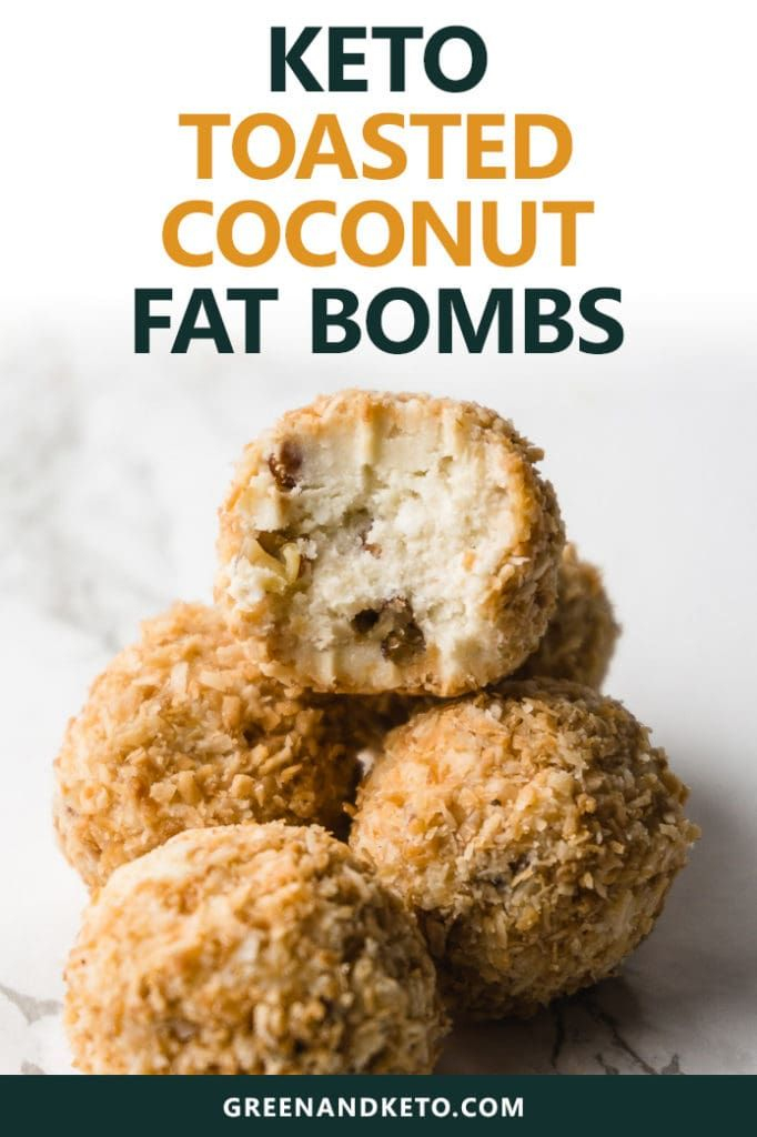 Keto Toasted Coconut Fat Bombs #protiendiet