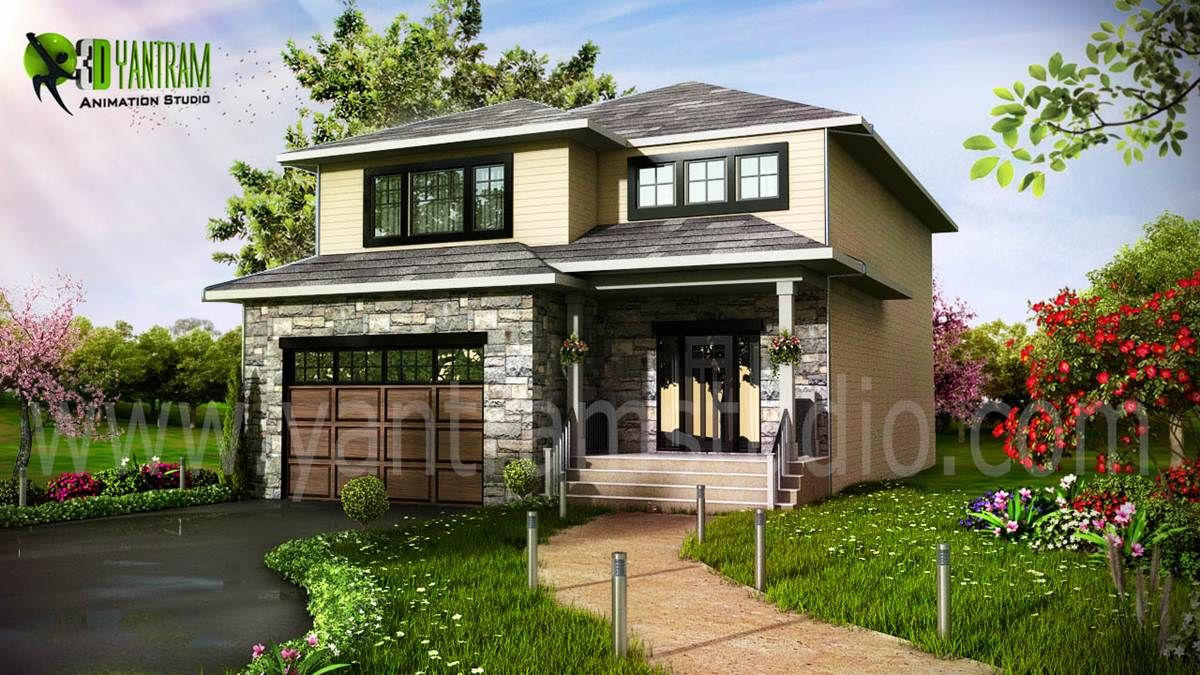 3d Exterior Residential Design With Images Exterior Design House Designs Exterior Exterior Rendering