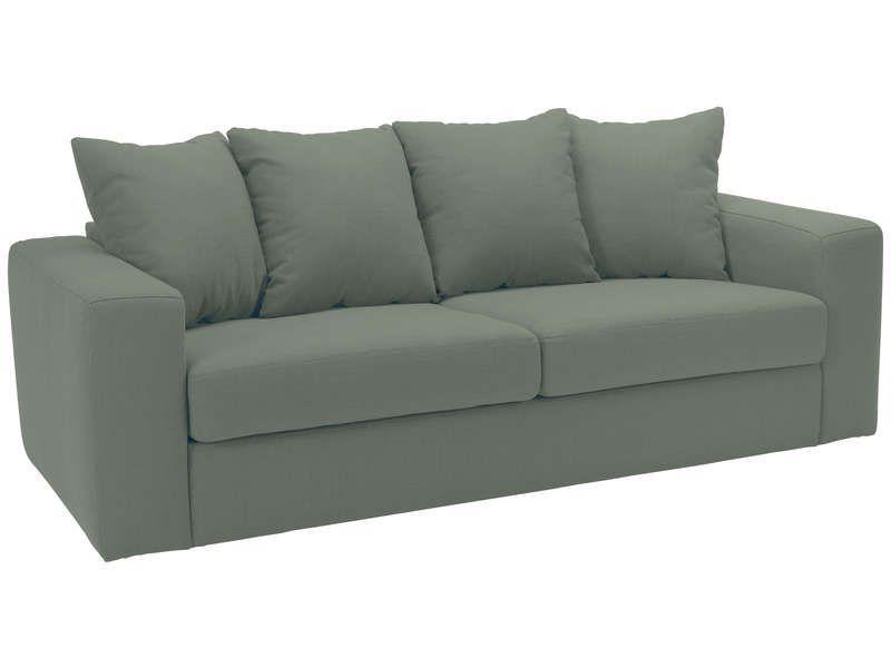 Canapé fixe 3 places NEO coloris aqua - pas cher ? C\u0027est sur