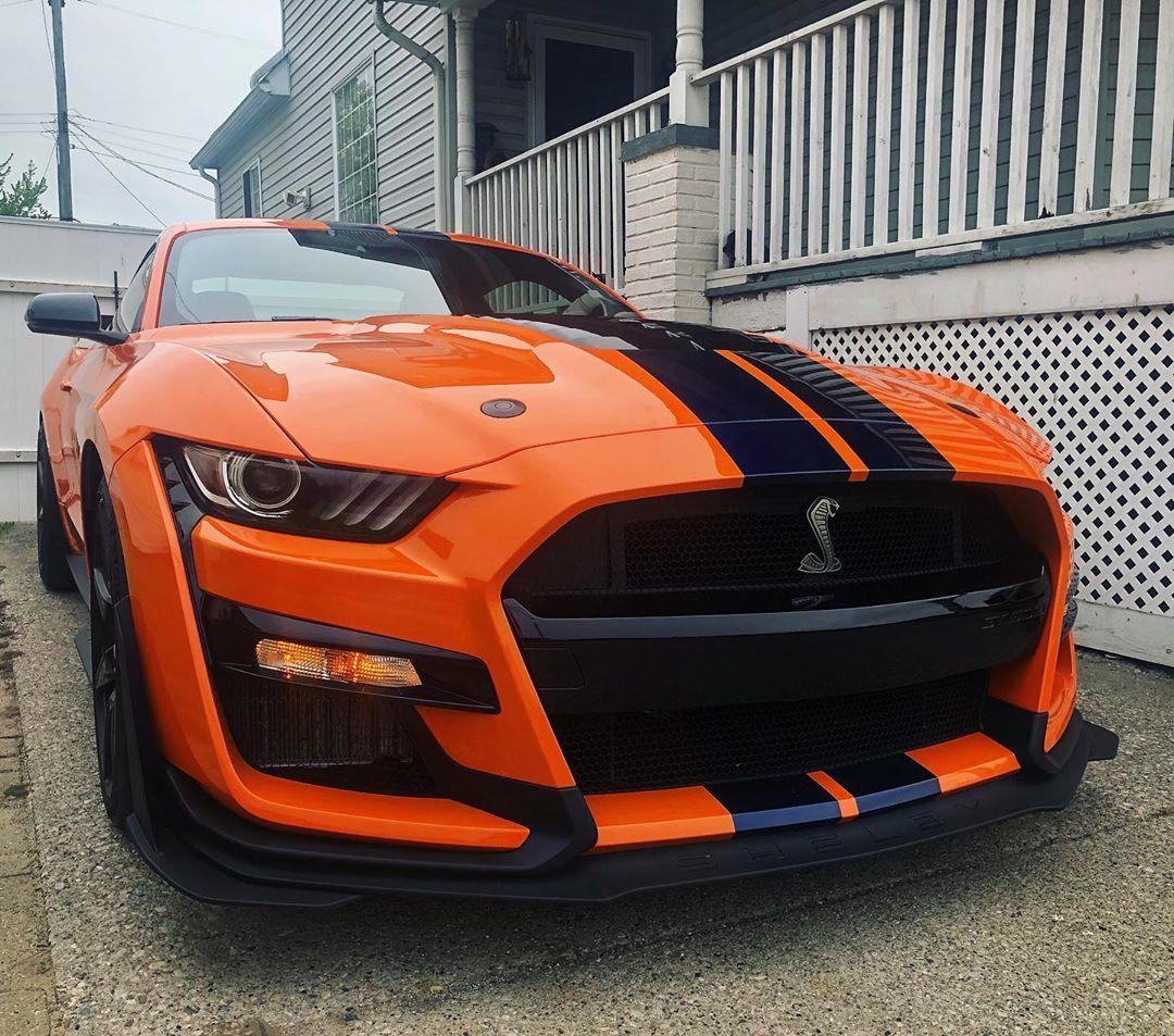 2020 GT500 Twister Orange with Kona Blue Stripes Sports