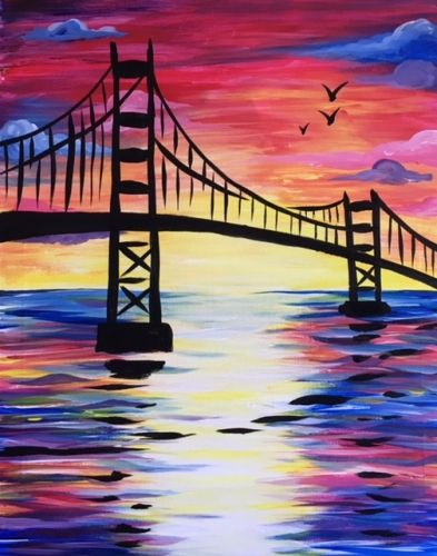 sunset bridge iii at cosi virginia square art classes pinterest sch ne bilder. Black Bedroom Furniture Sets. Home Design Ideas