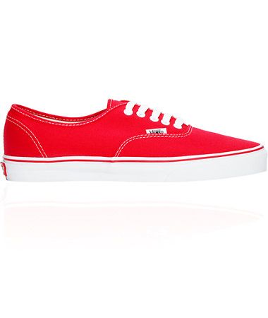 35c64ac972a38 Vans Authentic Red Skate Shoes | So Kayute! | Vans authentic red ...