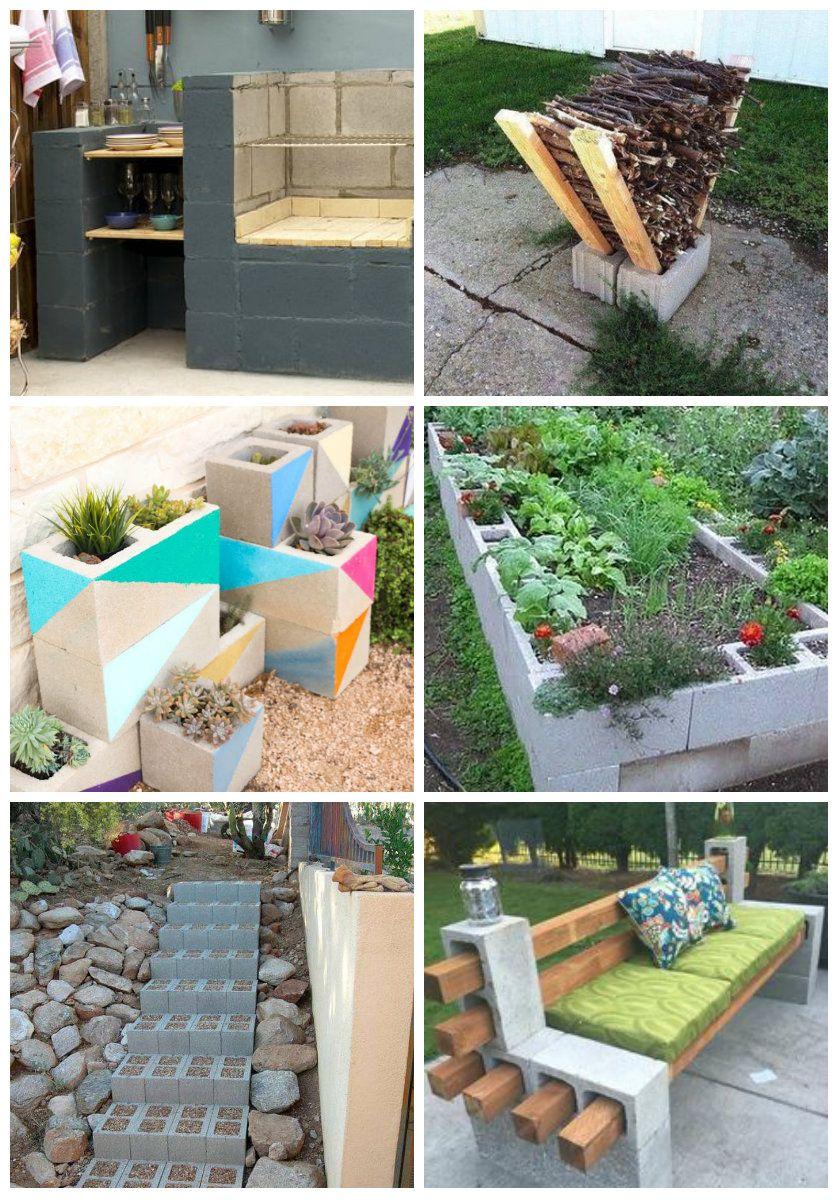 Des Idées De Recyclage De Parpaings Pour Le Jardin