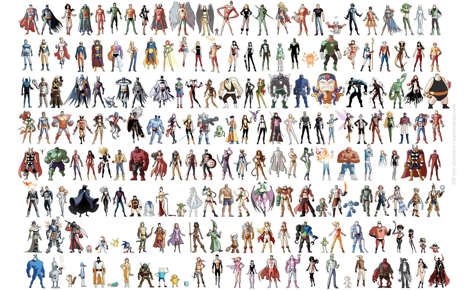 50 tiny superheroes illustrations by marcio takara 200