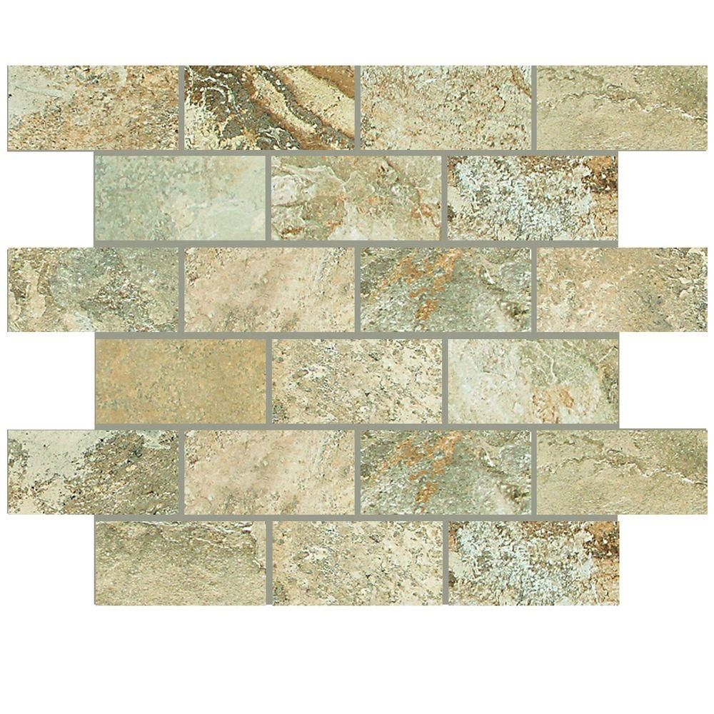 Daltile Folkstone Sandy Beach 12 In X 8 Mm Porcelain Brick