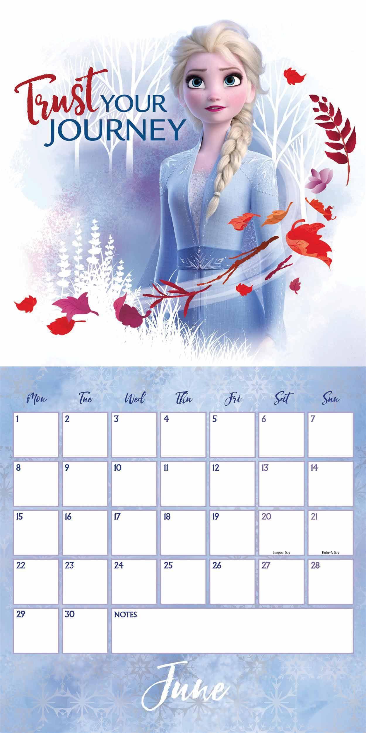 Disney Frozen 2 Official Calendar 2021 At Calendar Club Disney Calendar Frozen Disney Movie Frozen Wallpaper