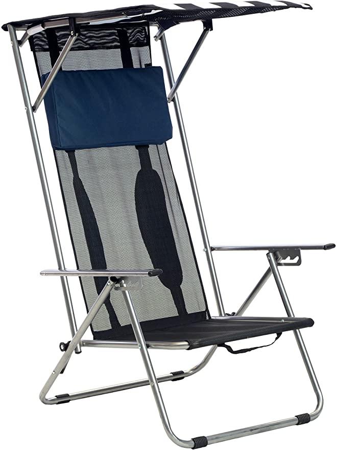 Amazon Com Quik Shade Beach Recliner Shade Chair Sports Outdoors 64 Beach Chairs Best Beach Chair Beach Chair With Canopy