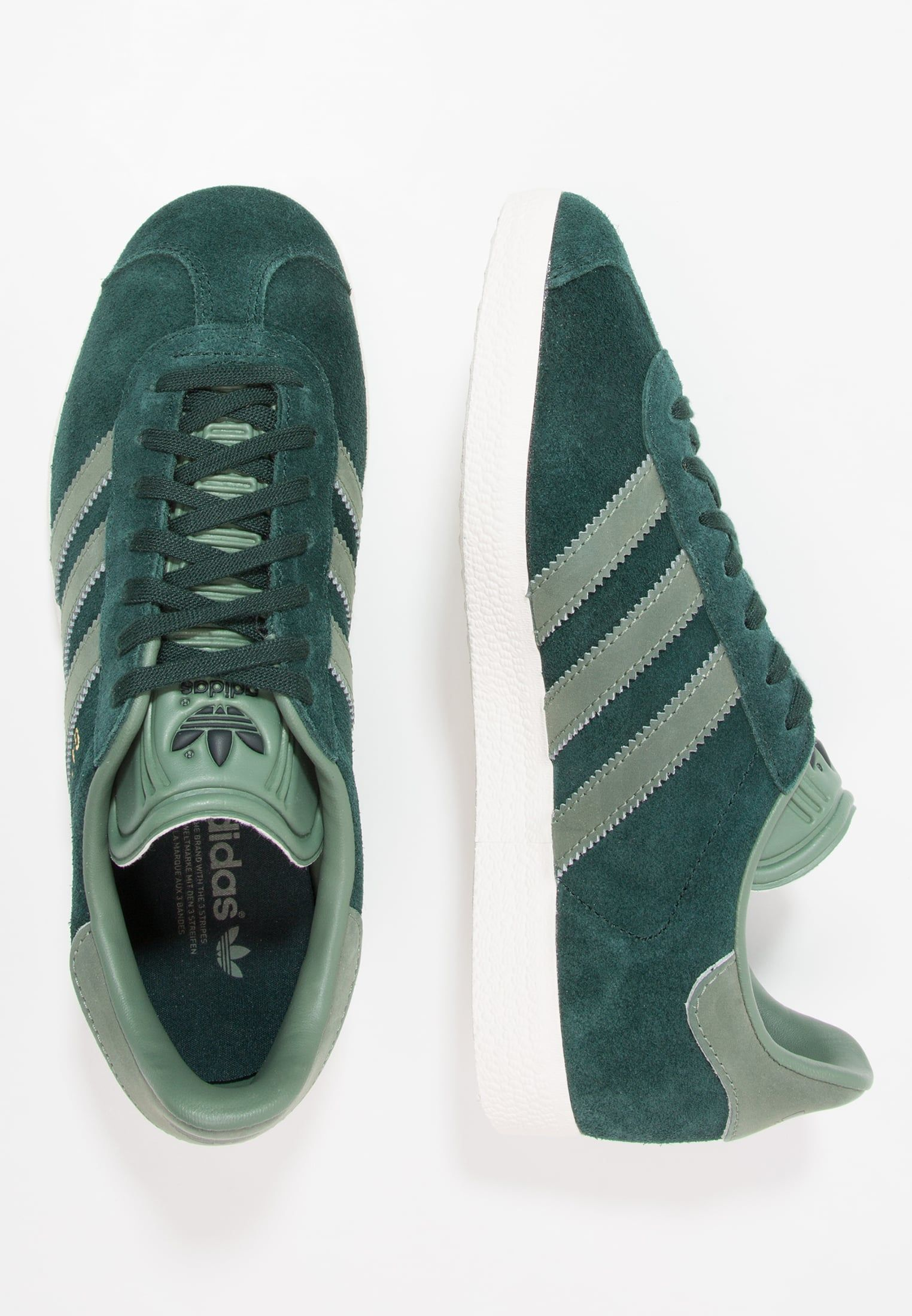 Zalando Sale Gazelles Finished In Jade Green Suede With Pale Green Trim