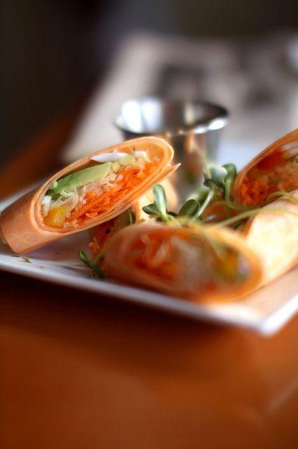Raw Sweet Potato Rolls Blossom Gourmet Vegan Nyc Raw Food Recipes Raw Sweet Potato Sweet Potato Rolls