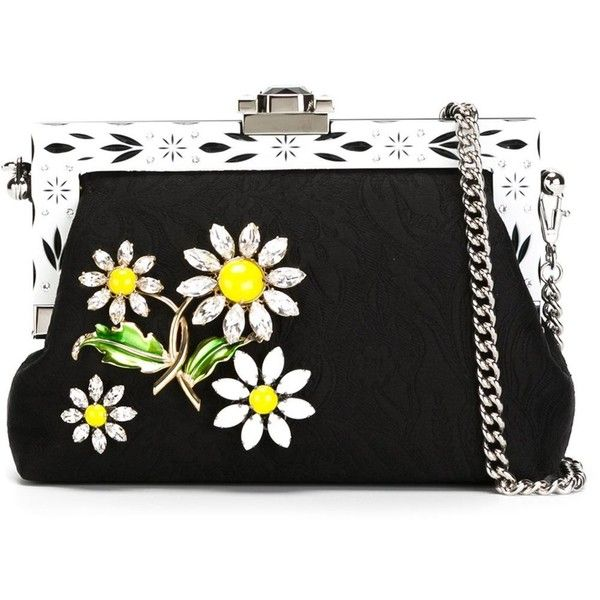 Dolce & Gabbana 'Vanda' clutch (23.555 NOK) ❤ liked on Polyvore featuring bags, handbags, clutches, purses, black, clasp purse, handbags purses, man bag, floral print purse and jacquard handbags