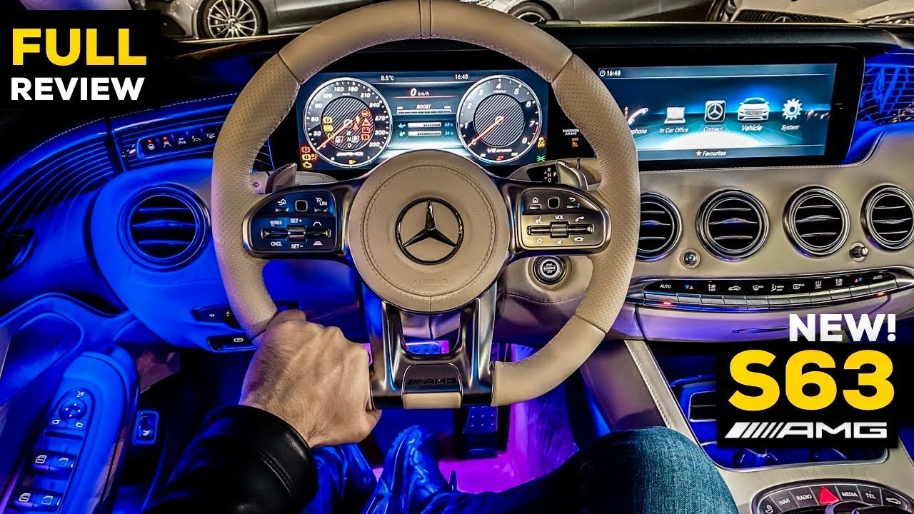 2020 Mercedes Amg S63 Coupe V8 New Full Night Ambient Review S