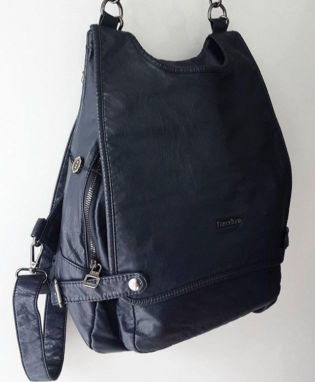 617df52043e4a Bayan Sırt Çantası Yıkanmış deri ✓ Marka : Barcelona Renk : Lacivert Fiyatı  : 119 TL