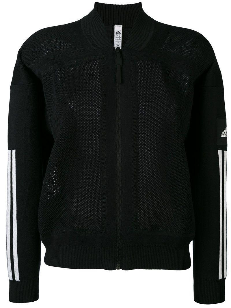 Adidas Originals Long Bomber Jacket In Black Black | ModeSens