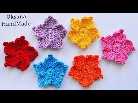 маленькие цветы крючком мастер класс Crochet Flowers Youtube