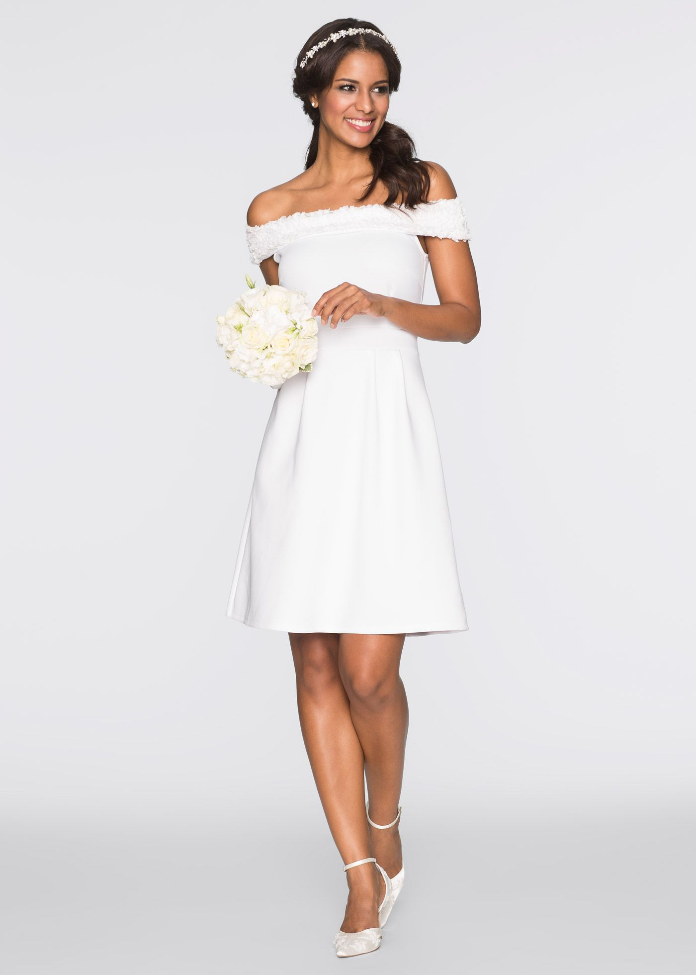 Kleid weiß jetzt im Online Shop von bonprix.de ab € 19,19