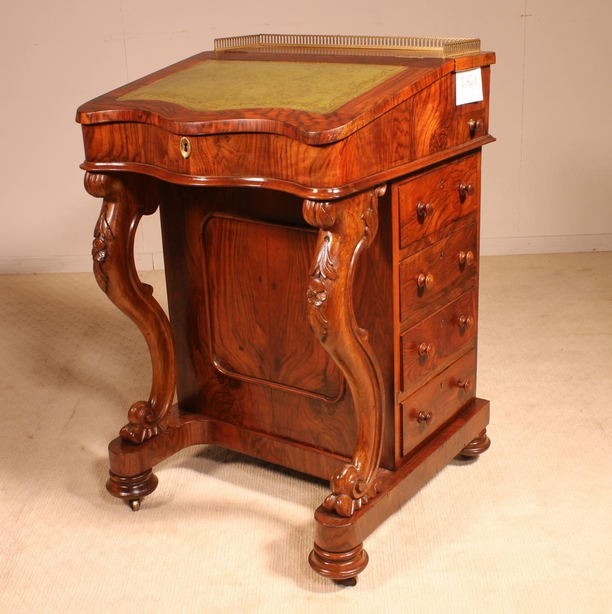 Davenport En Acajou Debut 19ieme Angleterre Alain Michel Antiquite Bruxelles Proantic Mobilier De Salon Acajou Antiquite