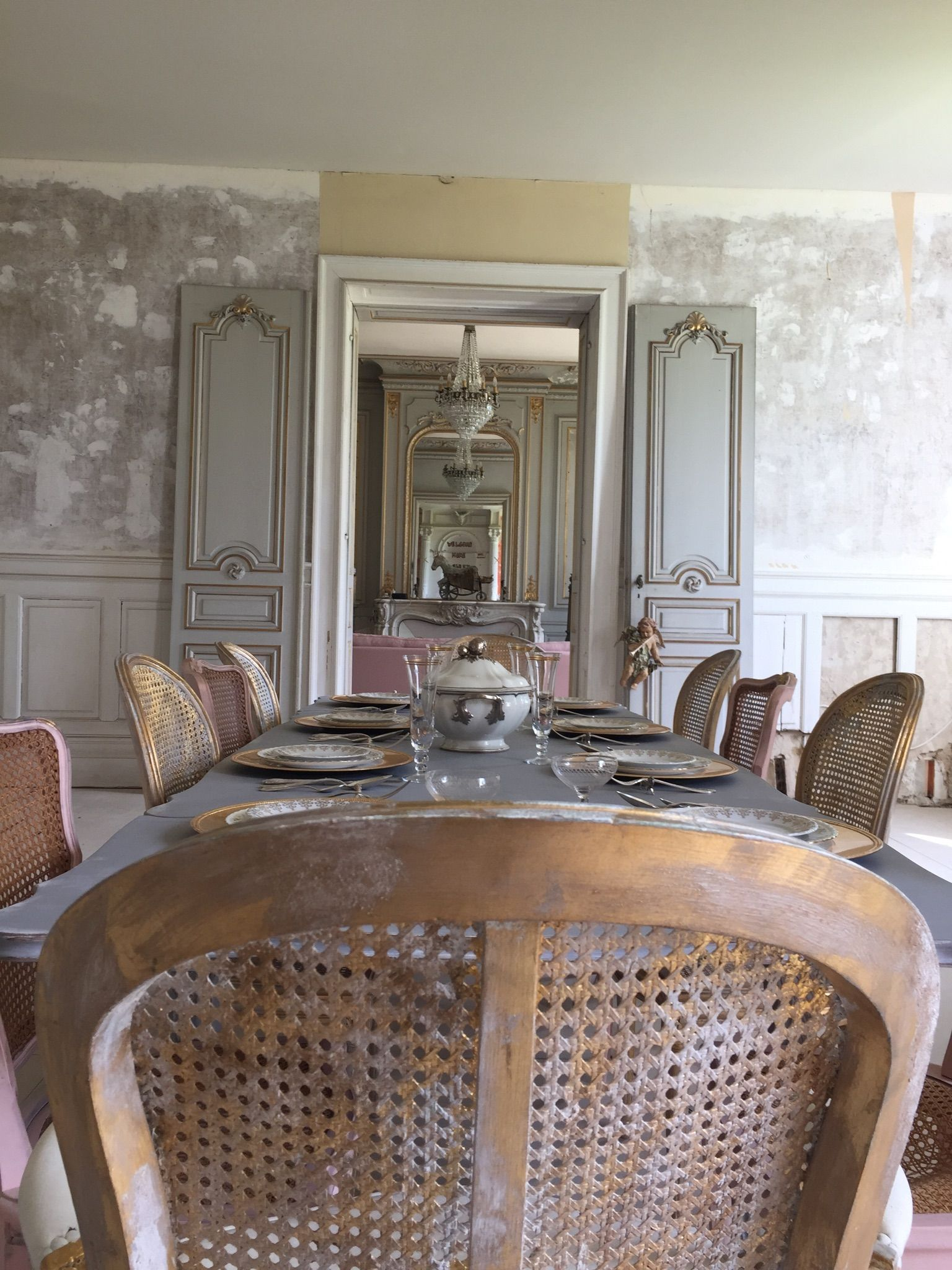 Dining Room At Chateau De Lomenie French Interior French