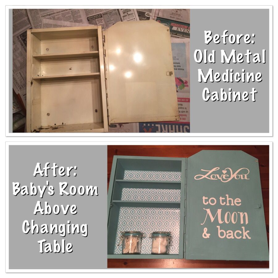 Baby's room decoration/storage made from old medicine ...