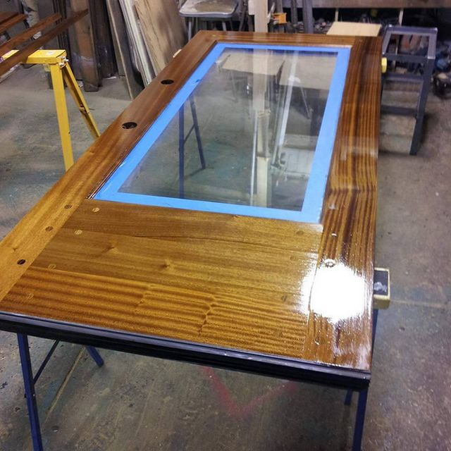 Check out this custom mahogany door created by Philadelphia Salvage and finished with our Waterlox Marine & Check out this custom mahogany door created by Philadelphia Salvage ...