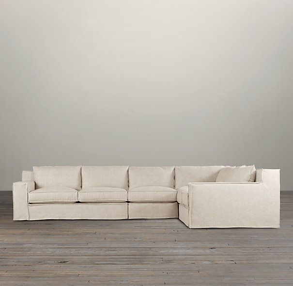 Capri Slipcovered Right Arm L Sectional Sectionals Restoration Hardware