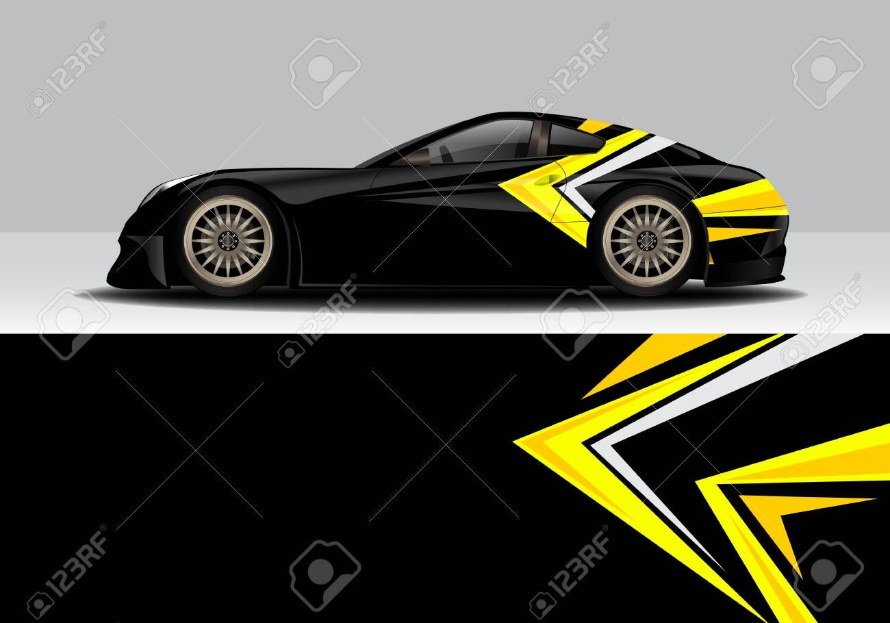 car wrap with modern abstract background vector design Illustration , #Affiliate, #modern, #abstract