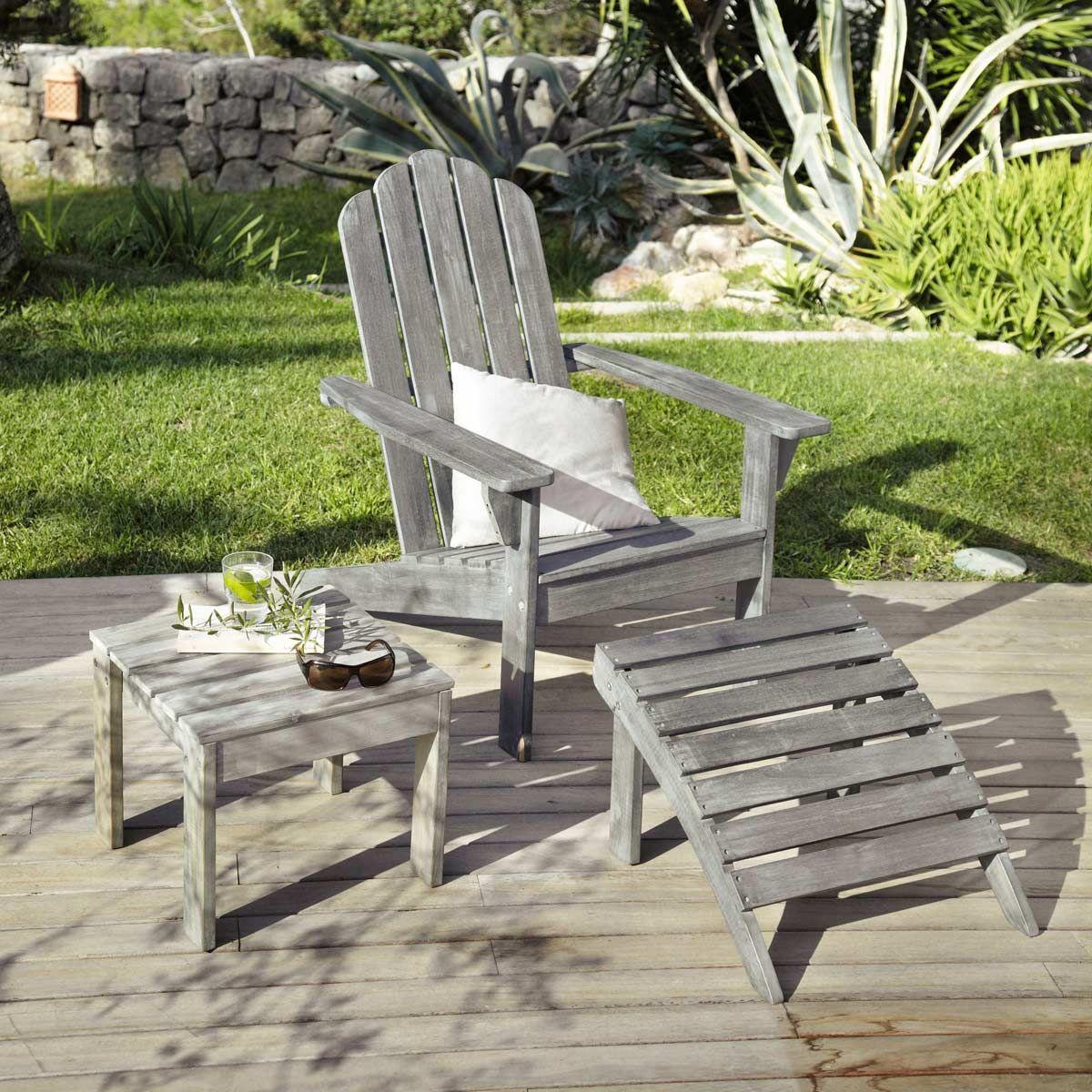 Acacia Chair Chaise En Longue GriséeAdirondack Pkw0N8OnX