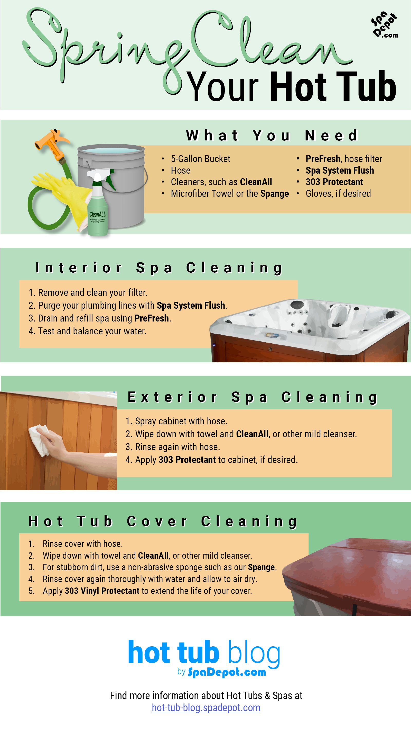 A step-by-step guide on how to spring clean your hot tub. Clean spas ...