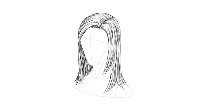 How To Draw Hair Step By Step How To Draw Hair Step By Step Hairstyles Artistic Hair