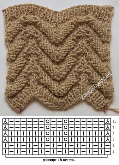 Схемы вязания двухсторонних шарфов 613