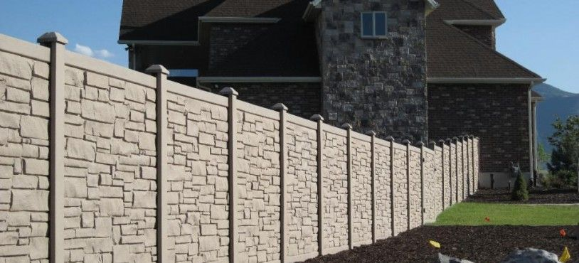 I Like This Type Of Fencing Kind Of Has A Stone Look But Without