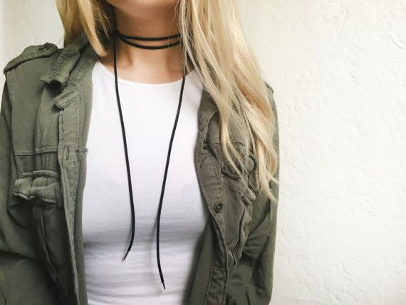 Black bolo choker necklace with silver endings  by EndlessUniverse