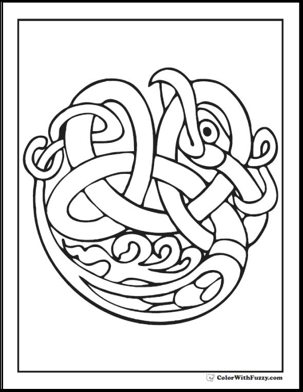 90 Celtic Coloring Pages Irish Scottish Gaelic Tangled