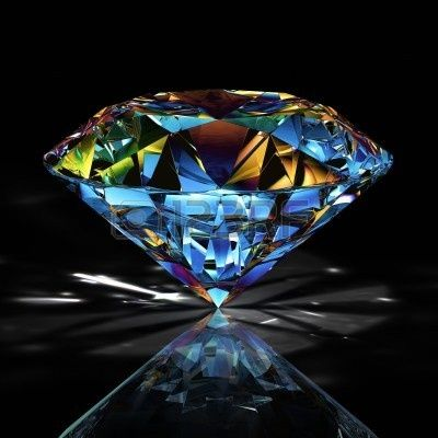 diamond on black background Stock Photo